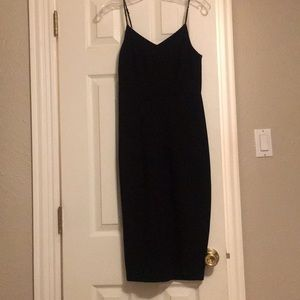 Black fit and flare pencil dress